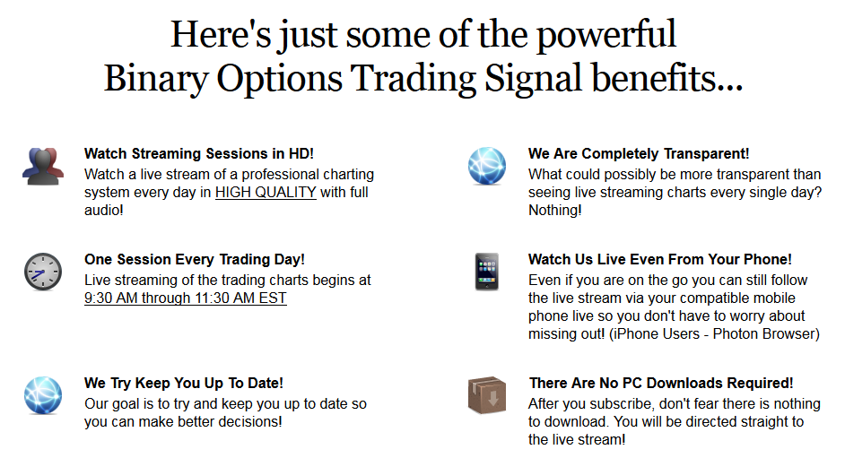Top binary options signal providers